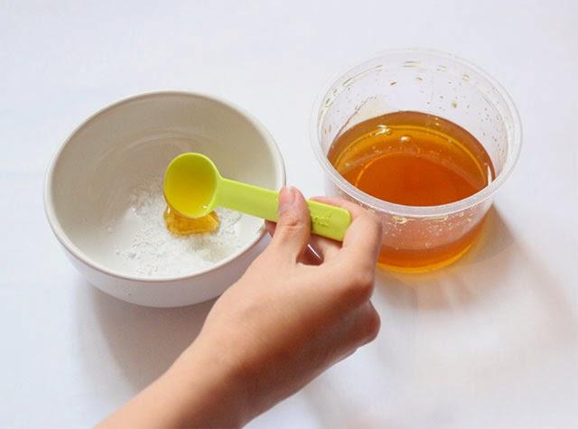 Bicarbonato de sodio y miel